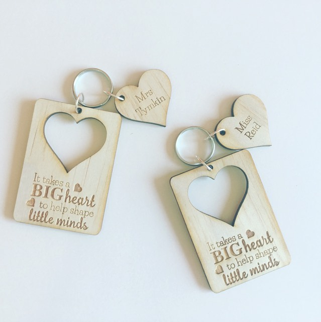 Personalised Teachers   Bag Tag   Key Ring