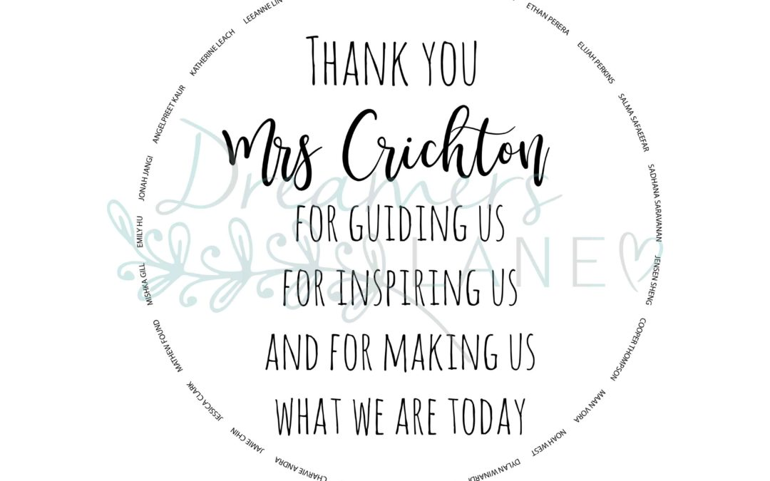 Personalised Teachers | Chopping Board {Round}