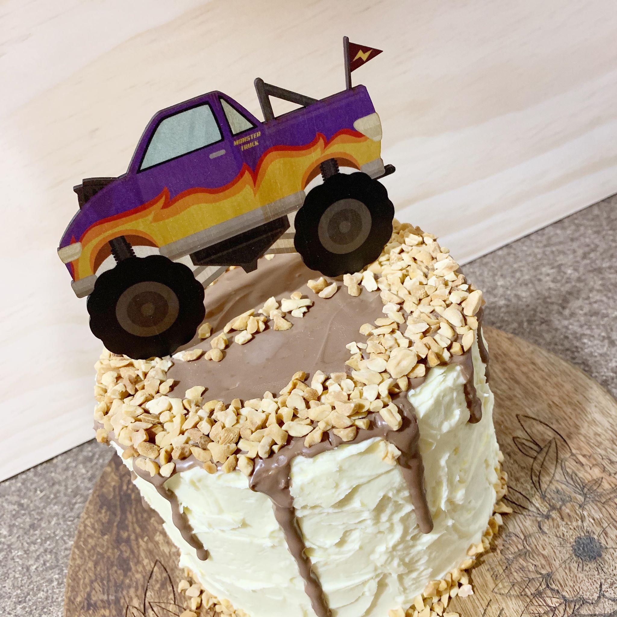 Printed Monster Truck Cake Topper Dreamers Lane