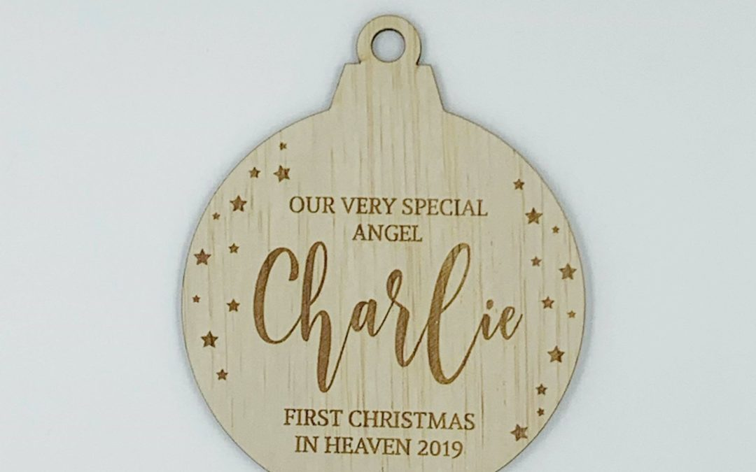 Personalised | Engraved Memorial Bauble {Round}