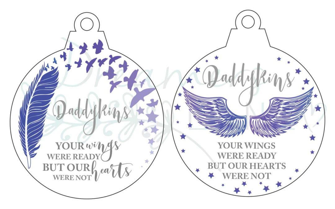 Personalised | Memorial  Bauble {Round}
